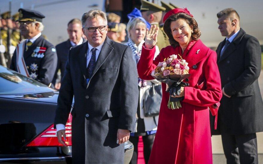 Swedish royal couple arrives in Vilnius