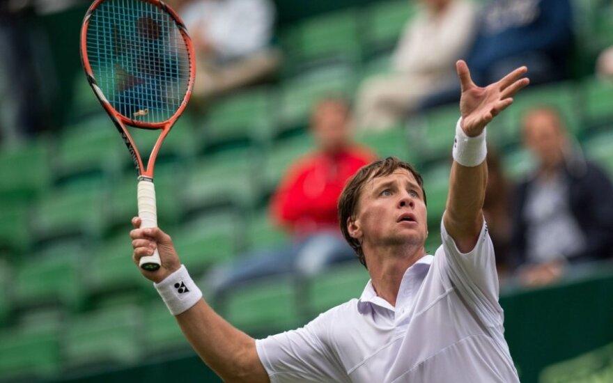 R. Berankis pergale pradėjo JAV atvirą teniso čempionatą