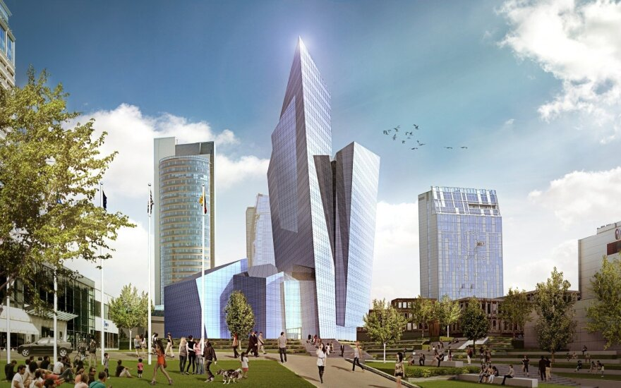 Doubts persist about Libeskind's building on Vilnius riverbank