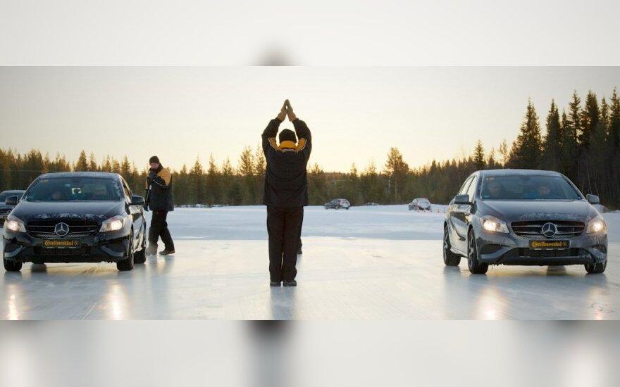 Continental padangų bandymai Laplandijoje