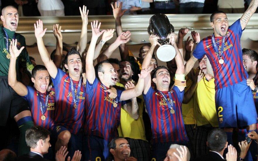 """""""Barcelona"""" iškovojo UEFA Supertaurę"""