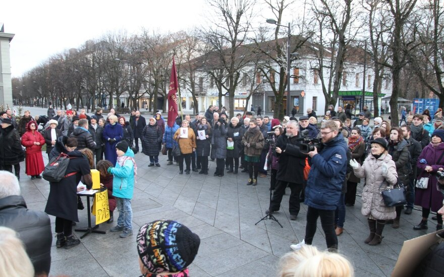 Protestas dėl Kauno Centrinio pašto uždarymo