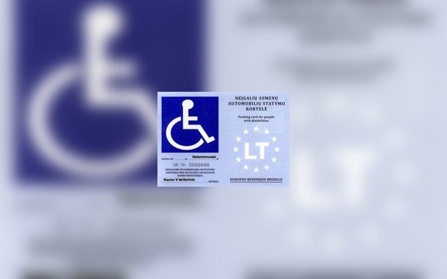 Neįgalių asmenų automobilių statymo kortelė