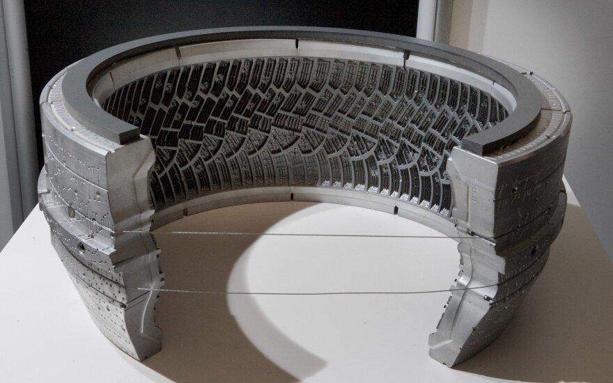 Dekonstruota automobilio padanga (asociatyvi nuotr.)