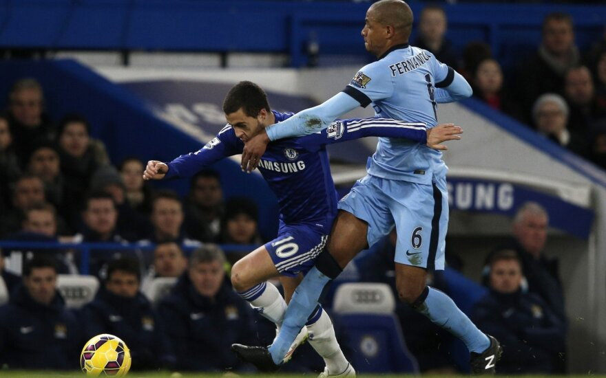 "Edenas Hazardas (""Chelsea"") ir  Fernando (""Manchester City"")"