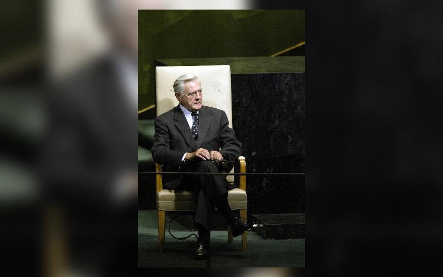 Lietuvos prezidentas V. Adamkus JT Generalinės Asamblėjos tribūnoje