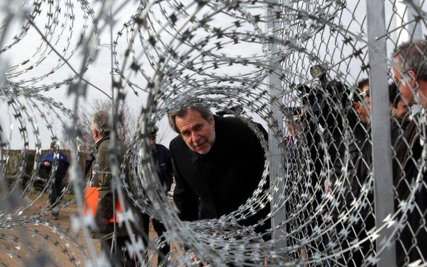 Baigiama statyti tvora tarp Graikijos ir Turkijos
