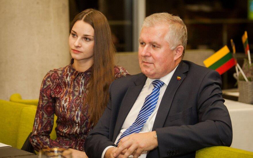 Arvydas Anušauskas su žmona