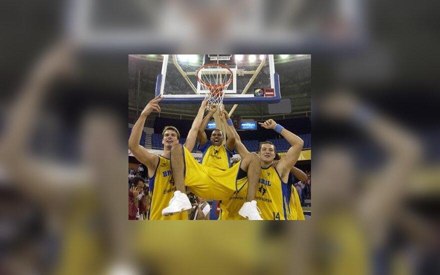 Amerikos pirmenybėse triumfavo Brazilijos krepšinio rinktinė