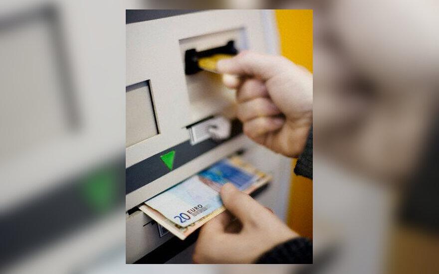 ES, eurai, bankomatas