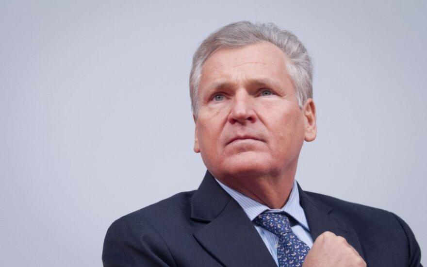 """A. Kwasniewskis: Vilniuje Ukrainos laukia """"istorinis sprendimas"""""""