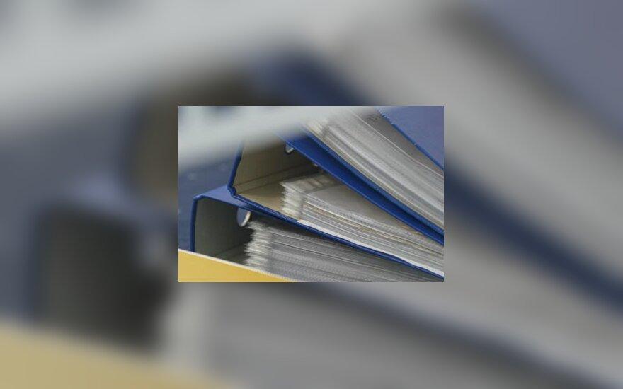 Ofisas, dokumentai, segtuvai, verslas