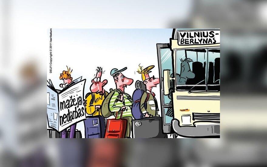 Iš Lietuvos per 10 m. emigravo apie 337 tūkst. gyventojų