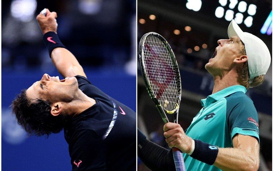 """""""US Open"""" finale – R. Nadalis ir žaidėjas, kurį net du kartus yra nugalėjęs R. Berankis"""