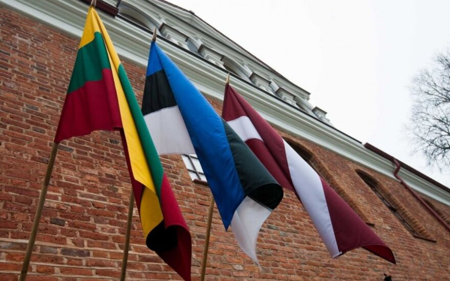 Baltic states' flags