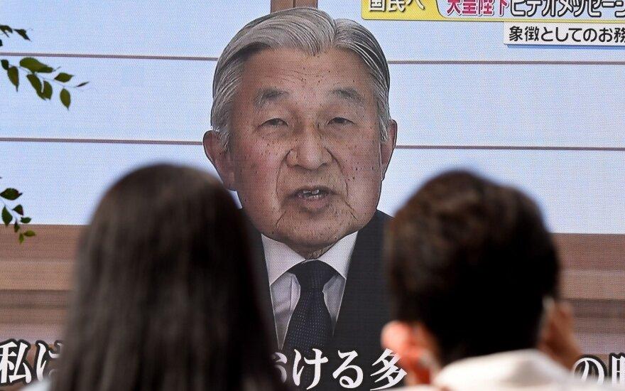 Japonijos imperatorius užsiminė ketinantis atsistatydinti dėl senyvo amžiaus