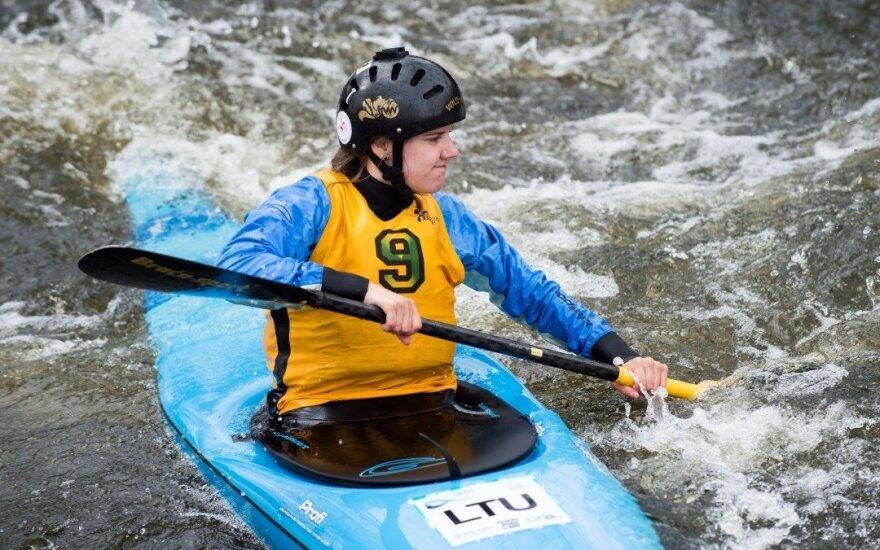 Vokės upėje vyko atviras Lietuvos baidarių ir kanojų slalomo čempionatas