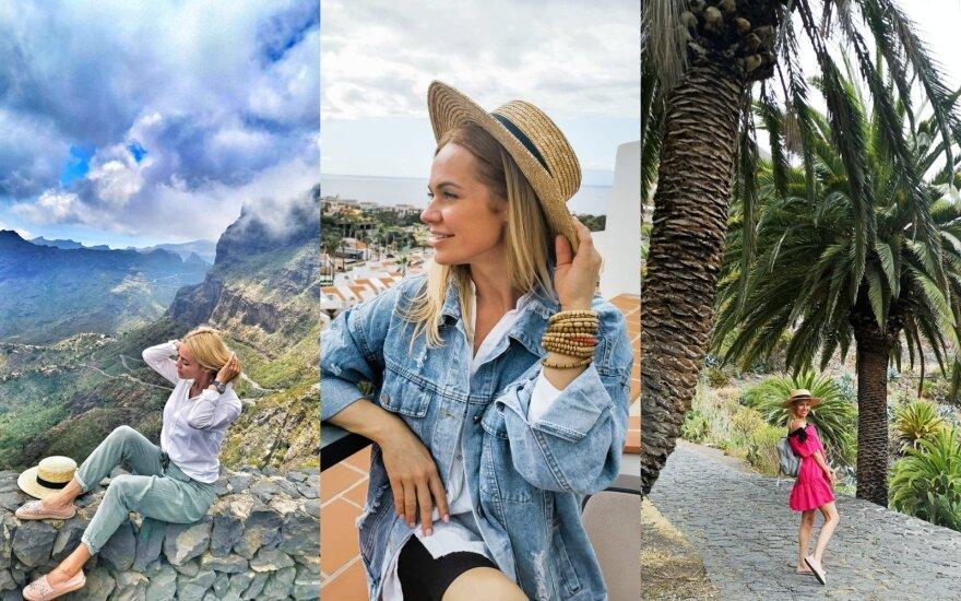 Ingrida Martinkėnaitė su šeima atostogauja Tenerifėje