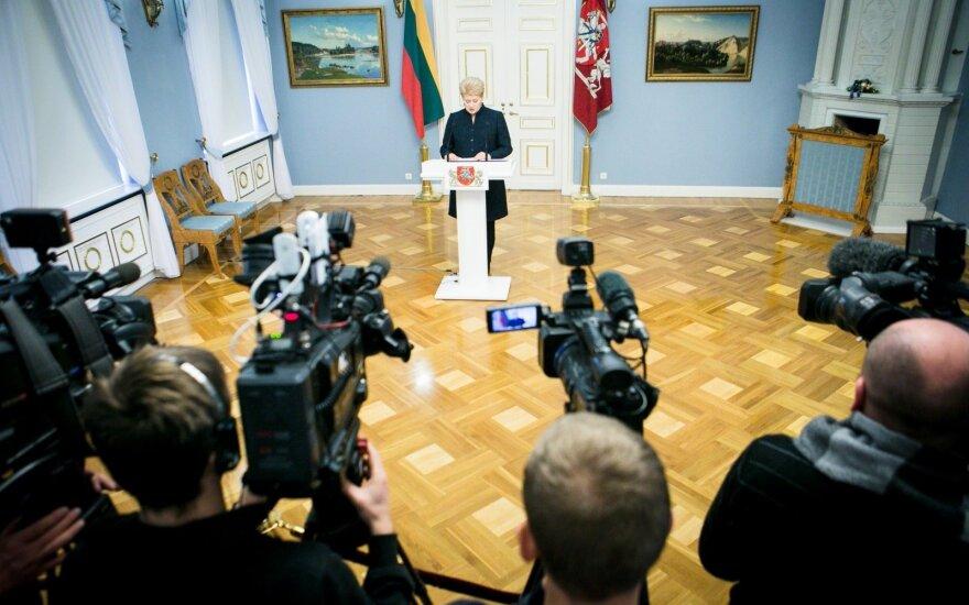 D. Grybauskaitė in the presidential palace