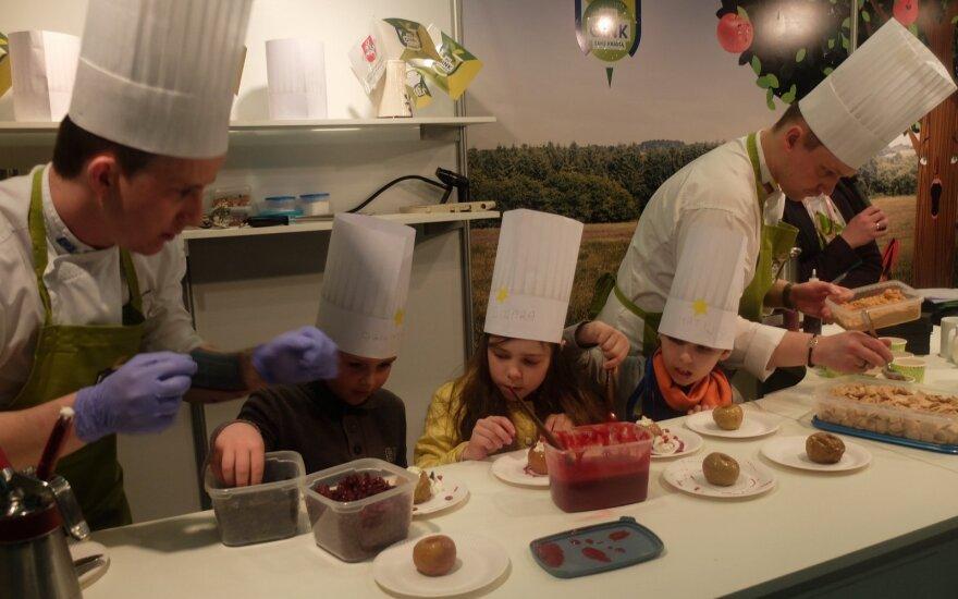 Virtuvės šefai dirba su vaikais