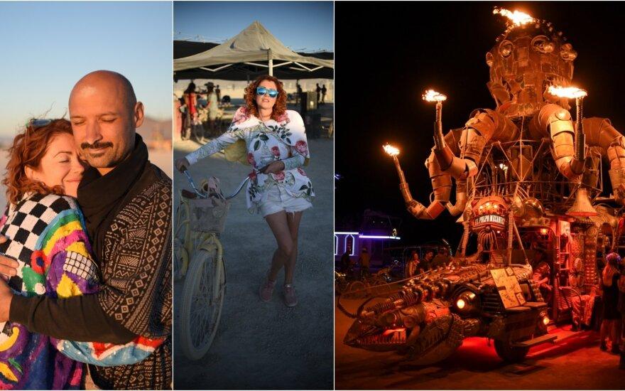 """Jurgis Didžiulis ir Erica Jennings festivalyje """"Burning Man"""""""