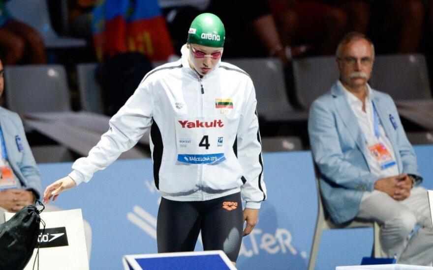 R. Meilutytė medalių sieks ir pasaulio jaunių plaukimo čempionate Dubajuje