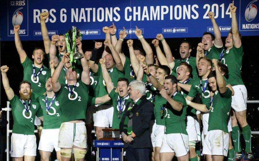"""Airijos regbininkų triumfas """"Šešių Nacijų taurėje"""""""