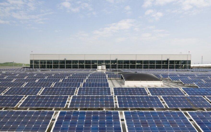 Latvijoje pastatyta pirmoji saulės elektrinė gamybos reikmėms