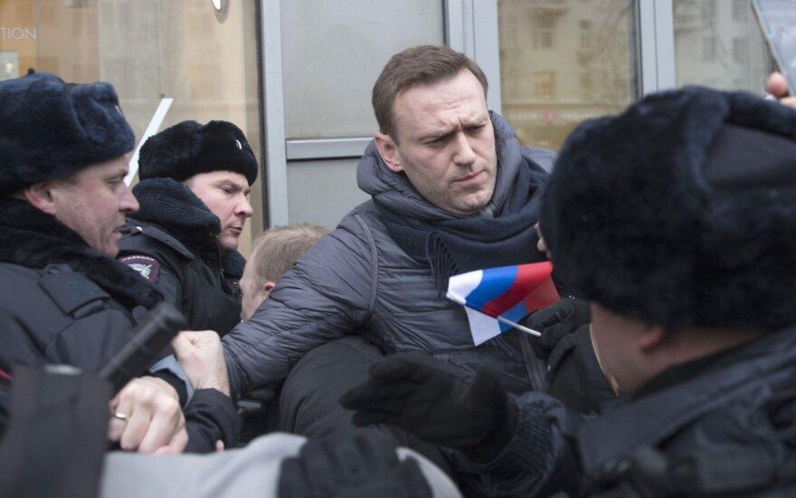 Rusijos opozicijos lyderis Navalnas sulaikytas policijos Maskvoje