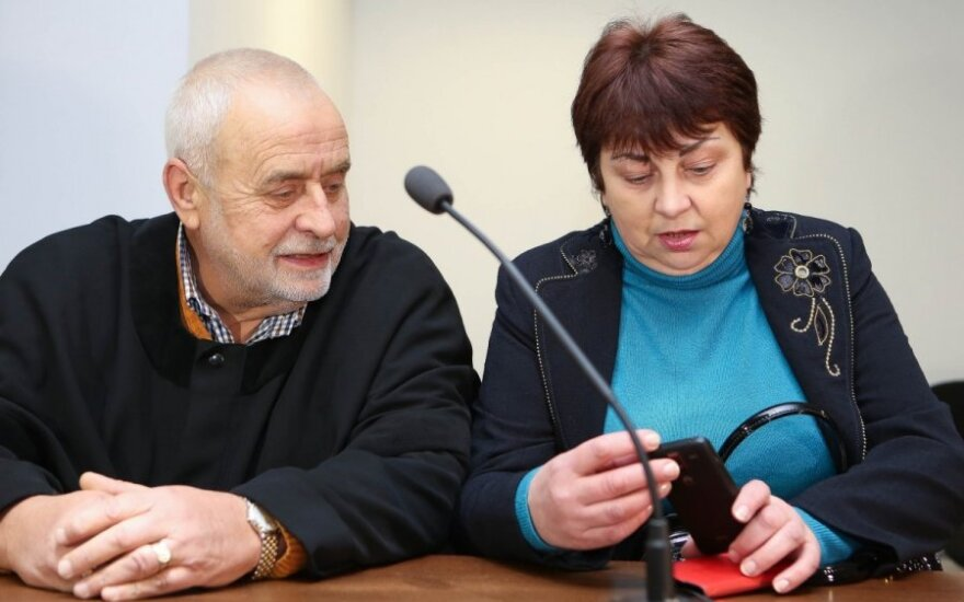Irina Šaltis su advokatu