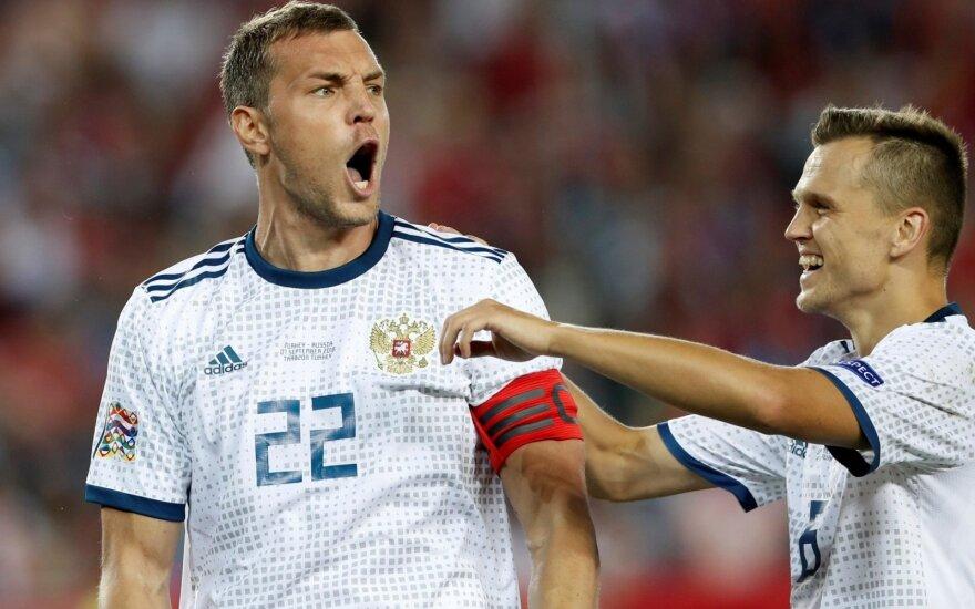 Rusijos rinktinės žvaigždė padėkojo fanams: ačiū, kad aukojate savo sveikatą ir nervus