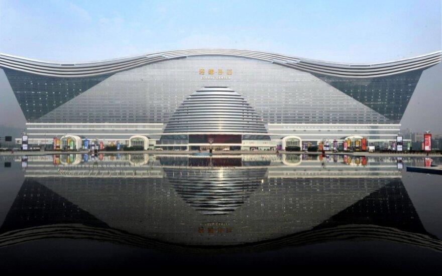 Atidarytas didžiausias pastatas Kinijoje
