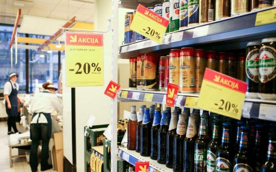 Seime - siūlymas leisti alkoholiu prekiauti nuo 10 iki 20 val.