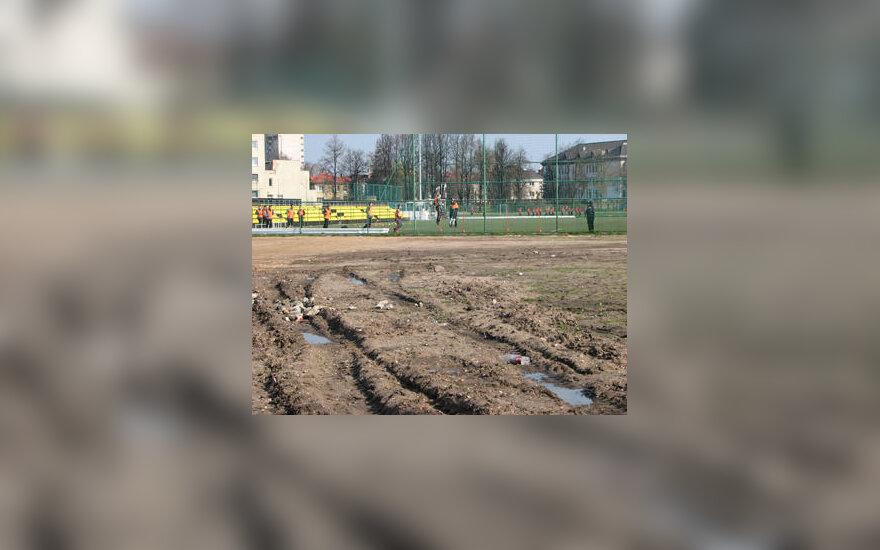 Apleista teritorija šalia Kauno futbolo akademijos