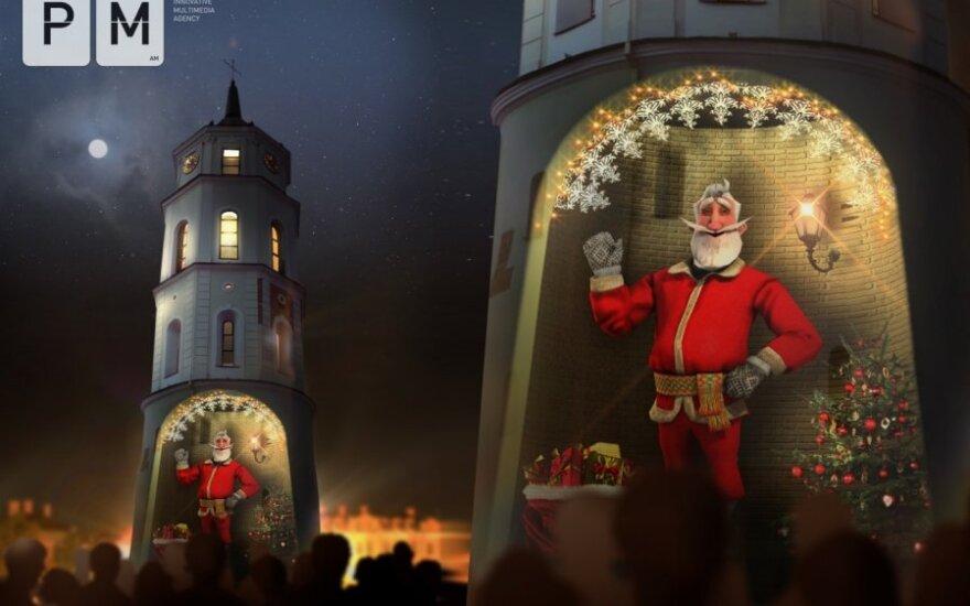 Vilniuje - 3D interaktyvus Kalėdų senelis