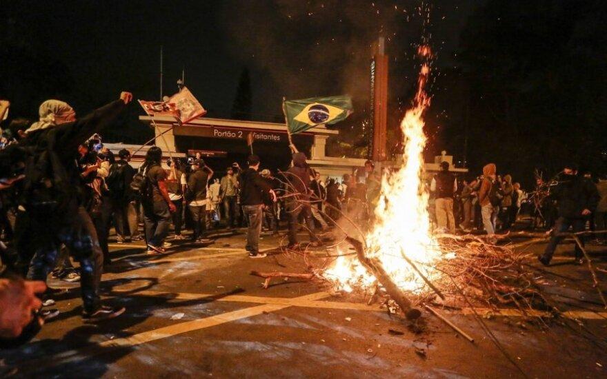 Protestai Brazilijoje dėl kylančių kainų