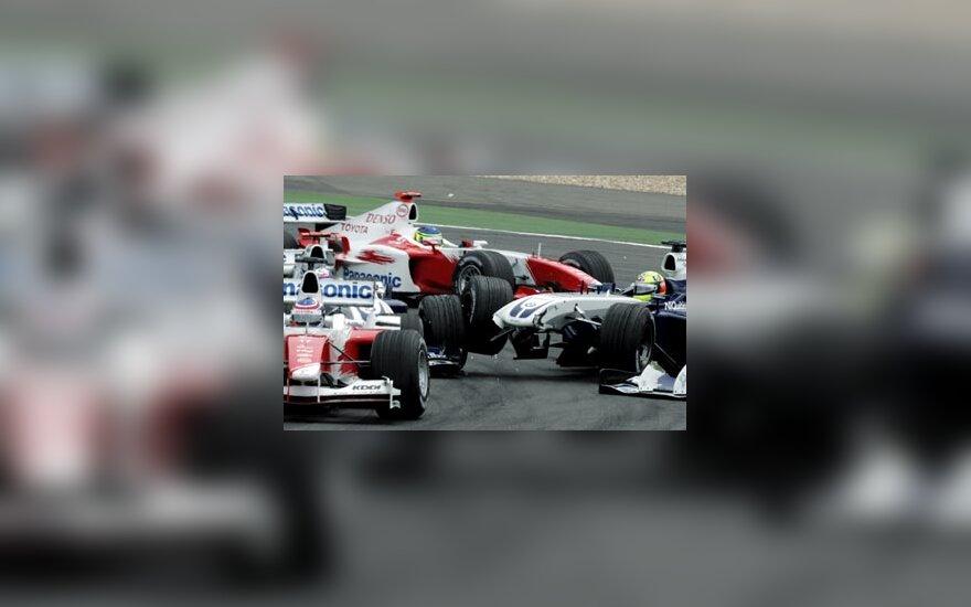 O. Panis, J.P. Montoya, Ch. Da Matta, R. Schumacher