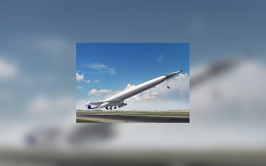 Didžiosios Britanijos įmonė kuria viršgarsinį keleivinį superlėktuvą