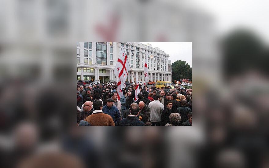 Opozicijos mitingas Gruzijoje