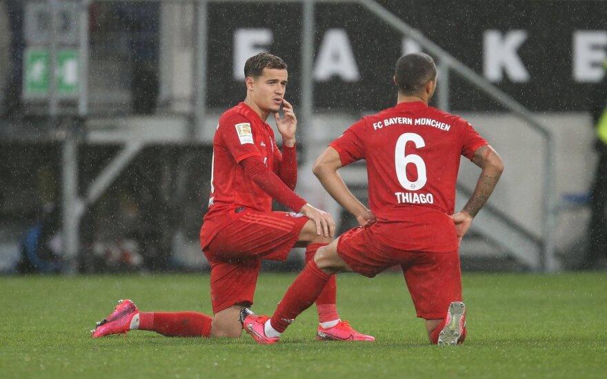 Thiago Alcantara ir Philippe'as Coutinho