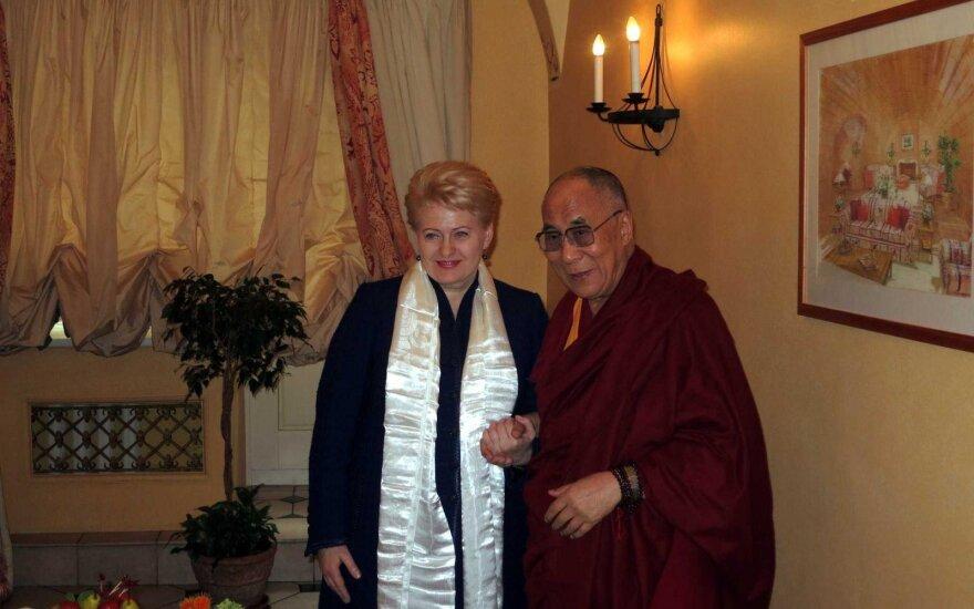 Dalia Grybauskaitė and the Dalai Lama