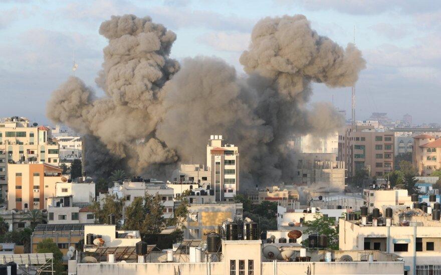 Per Izraelio antskrydį Gazoje sugriauta vienintelė koronaviruso tyrimo laboratorija
