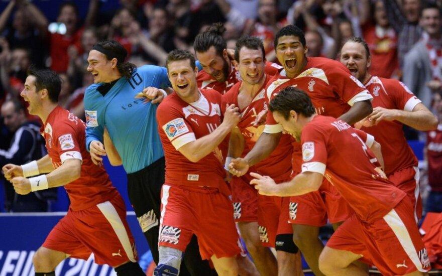 Danijos rankininkai džiaugiasi patekę į finalą