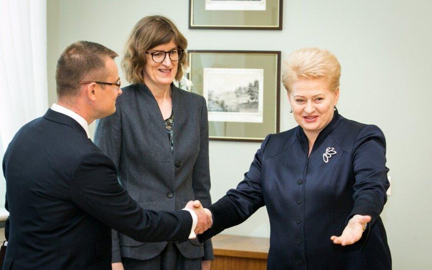 Arūnas Dulkys, Diana Vilytė ir Dalia Grybauskaitė