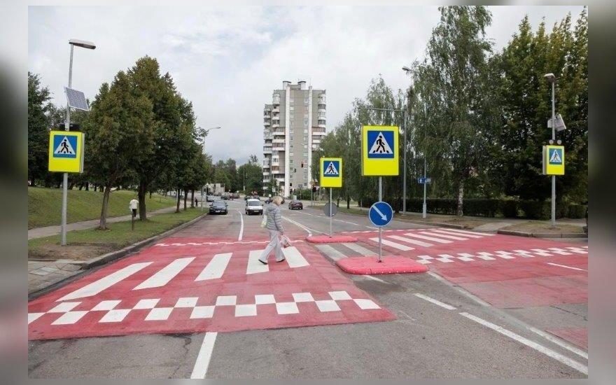 Atidaryta moderniausia pėsčiųjų perėja Lietuvoje