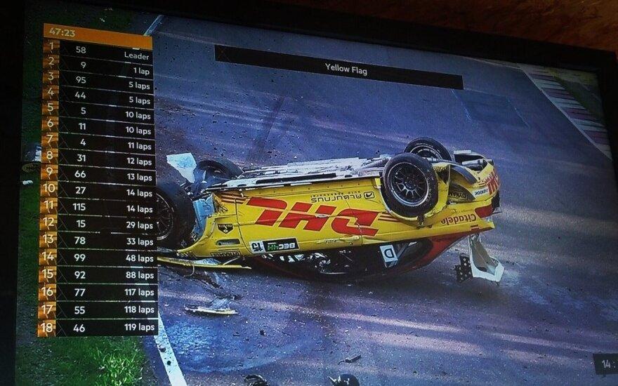 """Šeštadienį """"DeWalt Grand Prix"""" – kūlvirstis, degantys automobiliai ir lietuvių pergalė"""