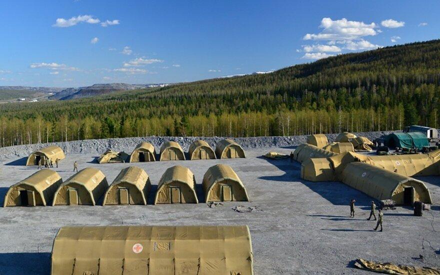 Rusijos kariuomenė izoliuoja aukso kasyklą Sibire, nustatytas COVID-19 židinys