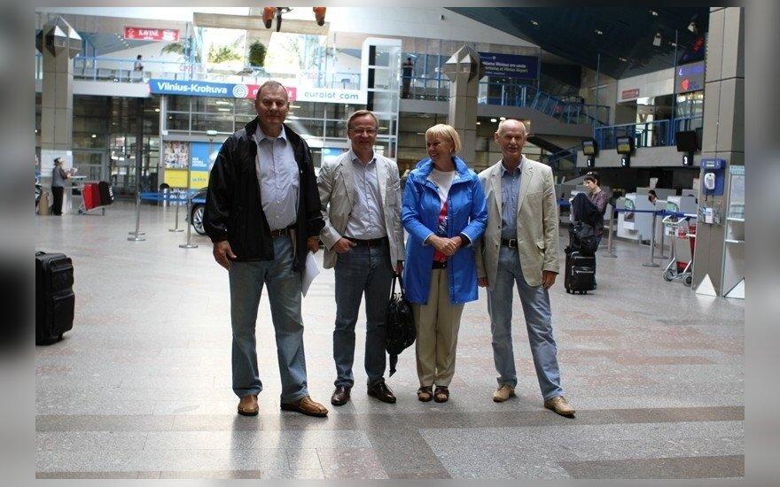 Modestas Paulauskas, Antanas Zabulis, Birutė Statkevičienė ir Kazimieras Budrys
