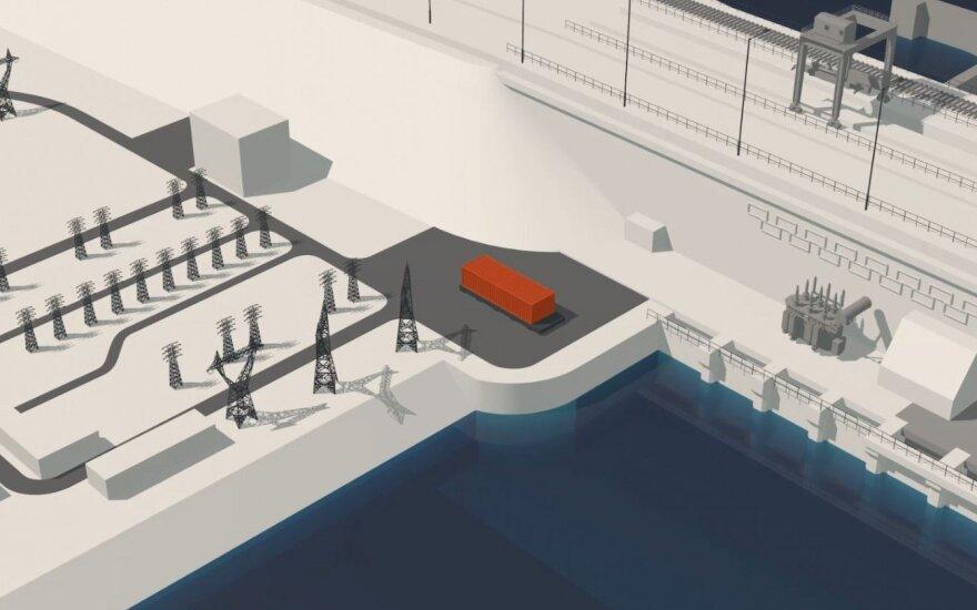 Kaunas hydropower plant battery