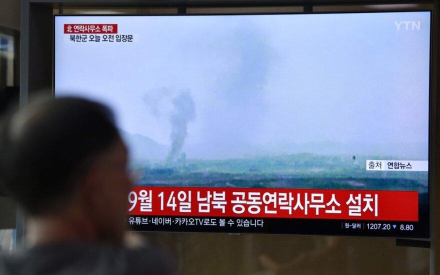 Šiaurės Korėja susprogdino Kesongo ryšių biurą